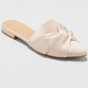 A New Day Pink Satin Flat Mules